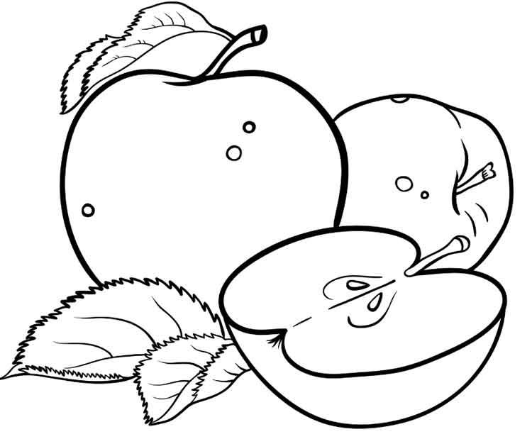 Tranh tô màu những quả táo