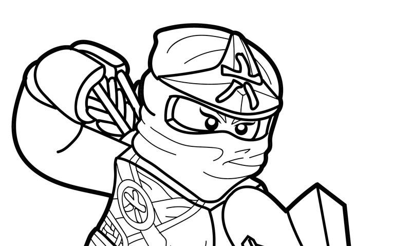 Tranh tô màu ninjago bịt mặt