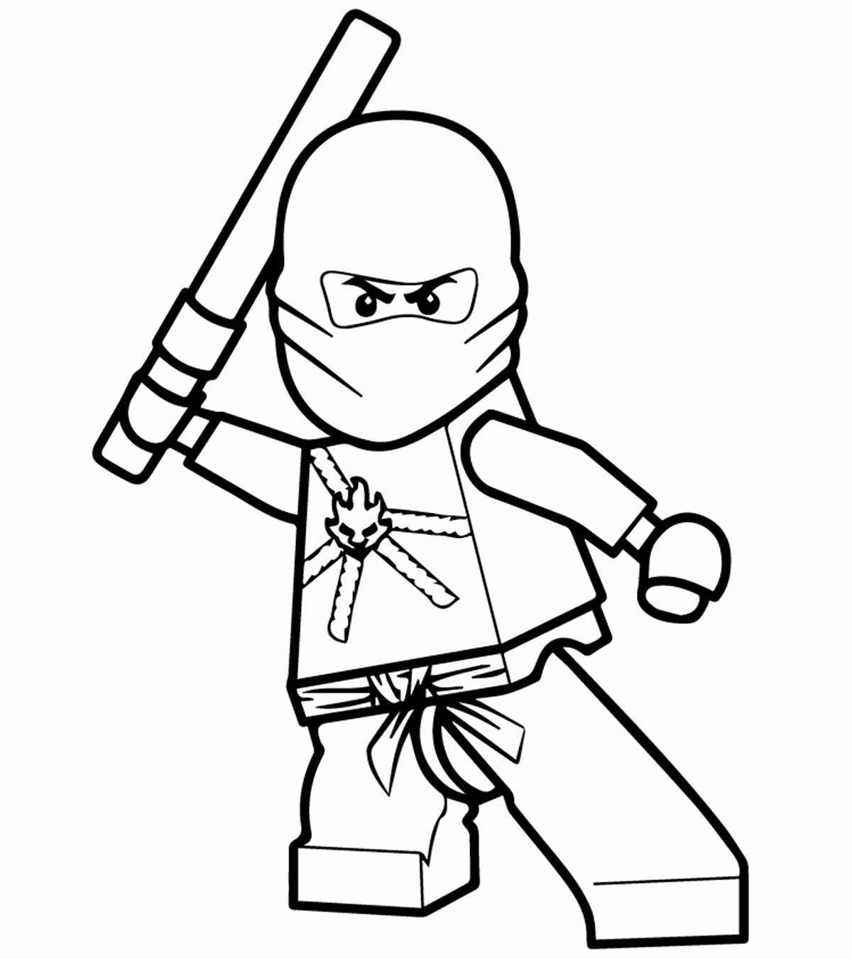 Tranh tô màu ninjago cầm kiếm cực ngầu