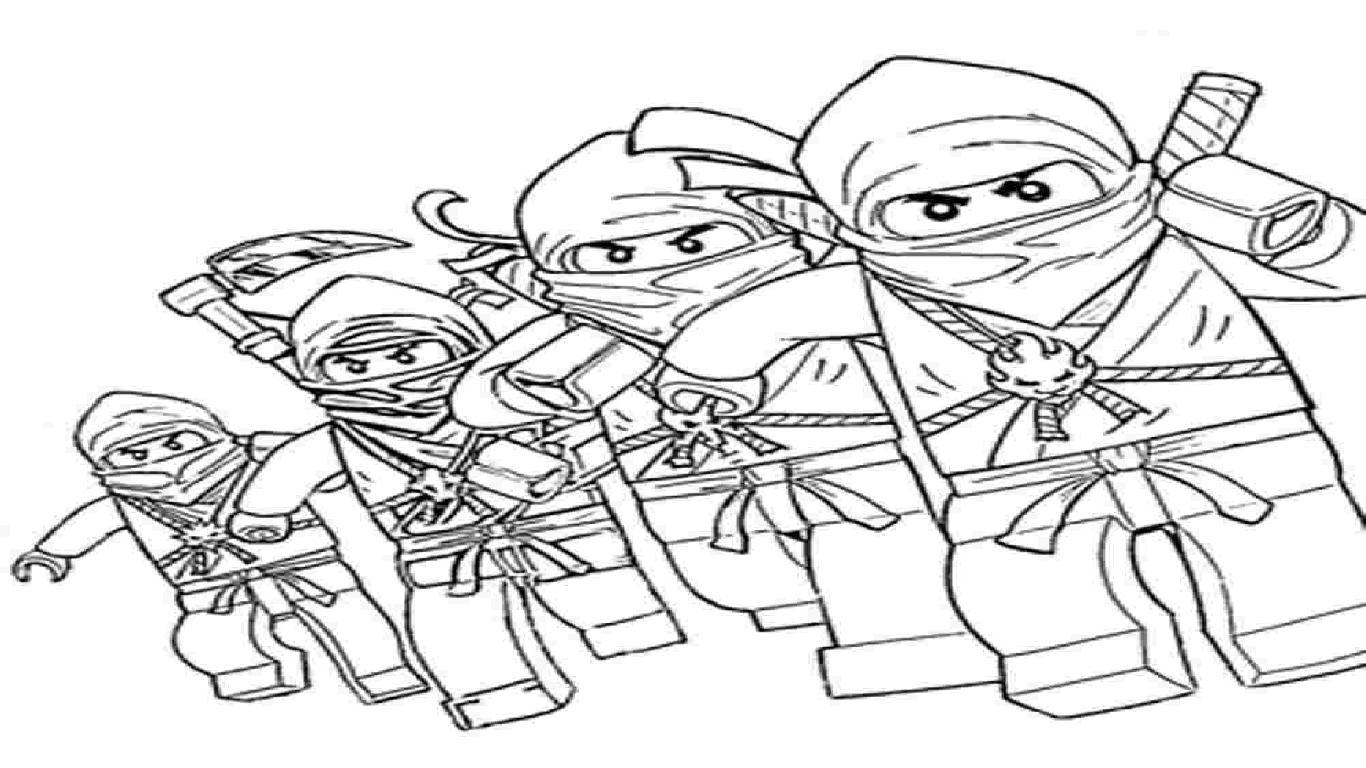 Tranh tô màu ninjago chiến binh cực đẹp
