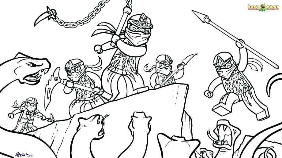 Tranh tô màu ninjago cùng nhau chiến đấu