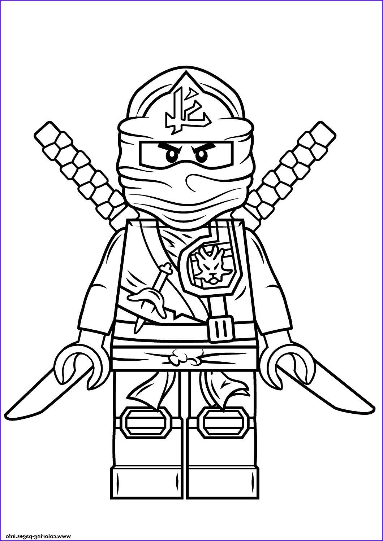 Tranh tô màu ninjago song kiếm rất đẹp