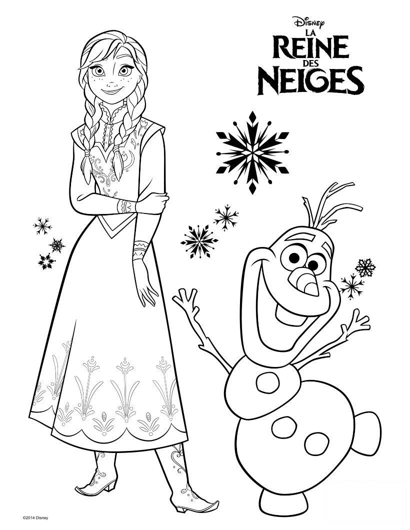 Tranh tô màu nữ hoàng băng giá Elsa cực đẹp cho bé