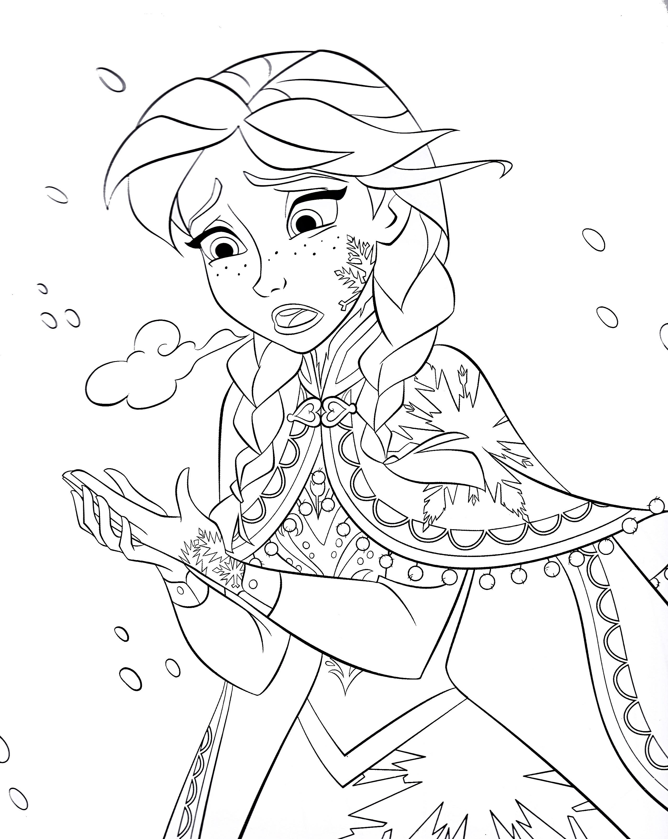 Tranh tô màu nữ hoàng băng giá Elsa đẹp nhất