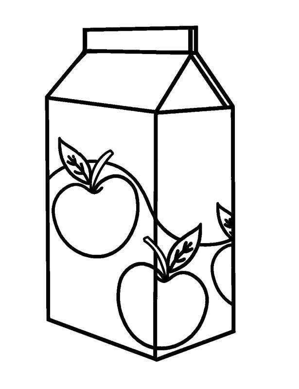 Tranh tô màu nước ép quả táo