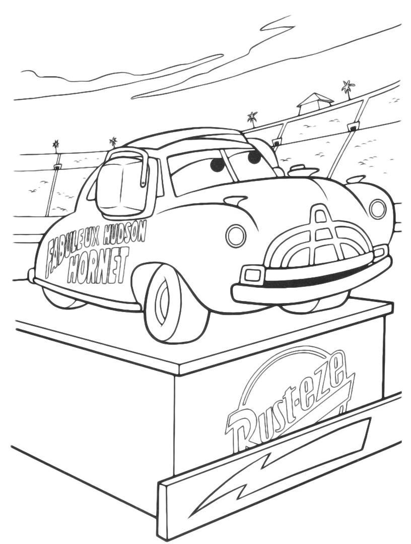 Tranh tô màu ô tô cho bé cực đẹp