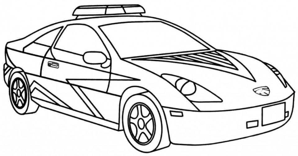 Tranh tô màu ô tô đơn giản