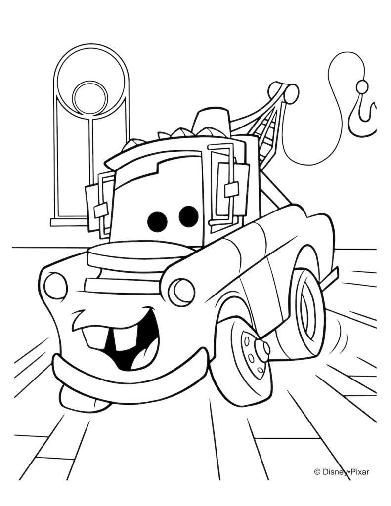 Tranh tô màu ô tô