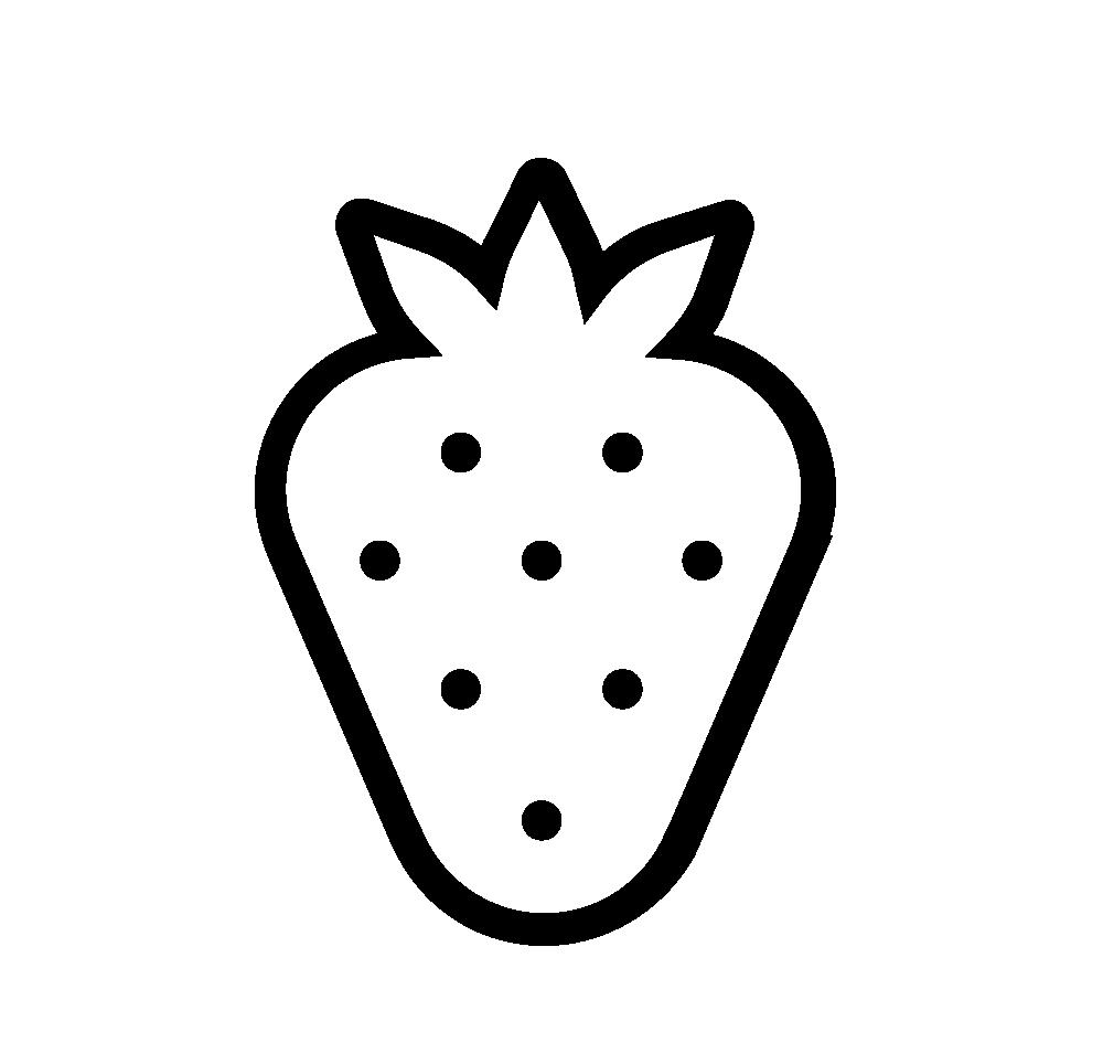 Tranh tô màu quả dâu tây đơn giản