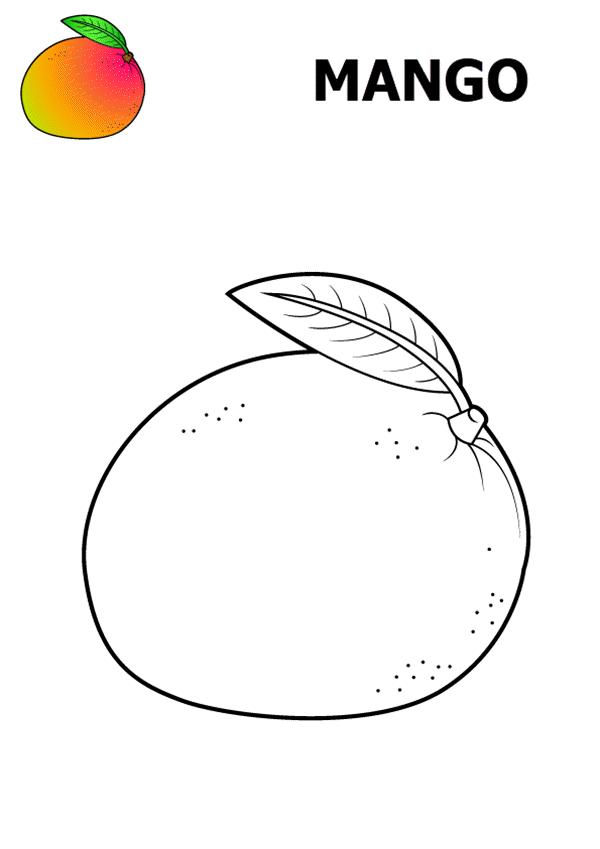 Tranh tô màu quả mango