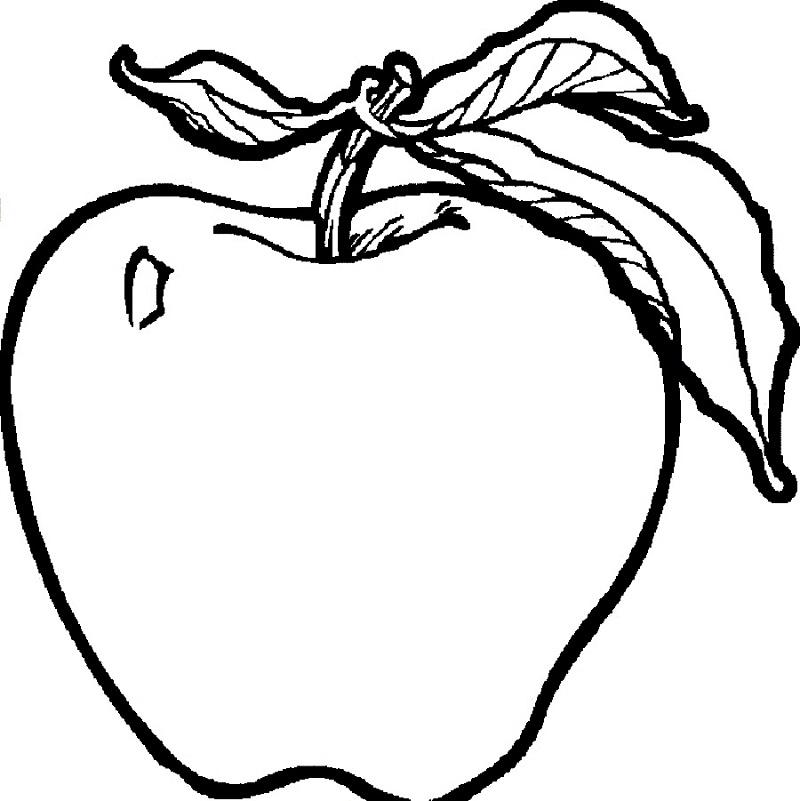 Tranh tô màu quả táo cho bé