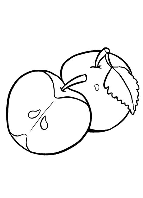 Tranh tô màu quả táo đẹp