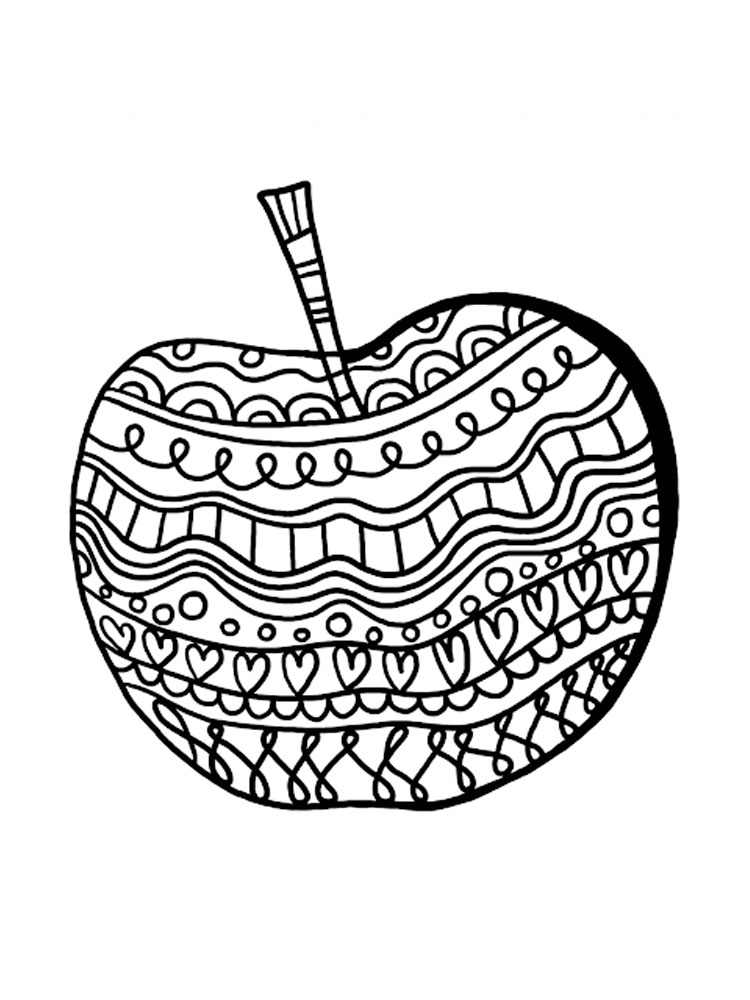 Tranh tô màu quả táo độc đáo