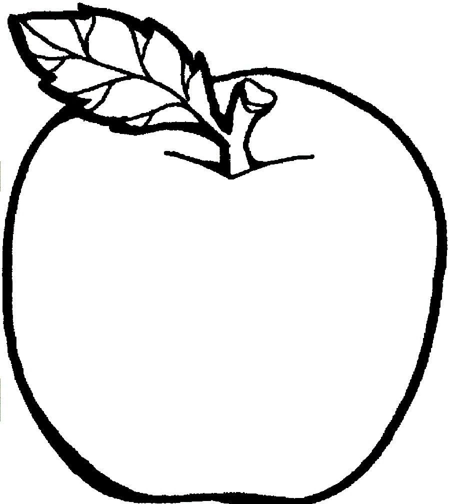 Tranh tô màu quả táo đơn giản