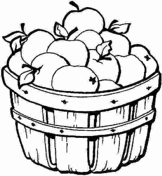 Tranh tô màu quả táo trong thùng