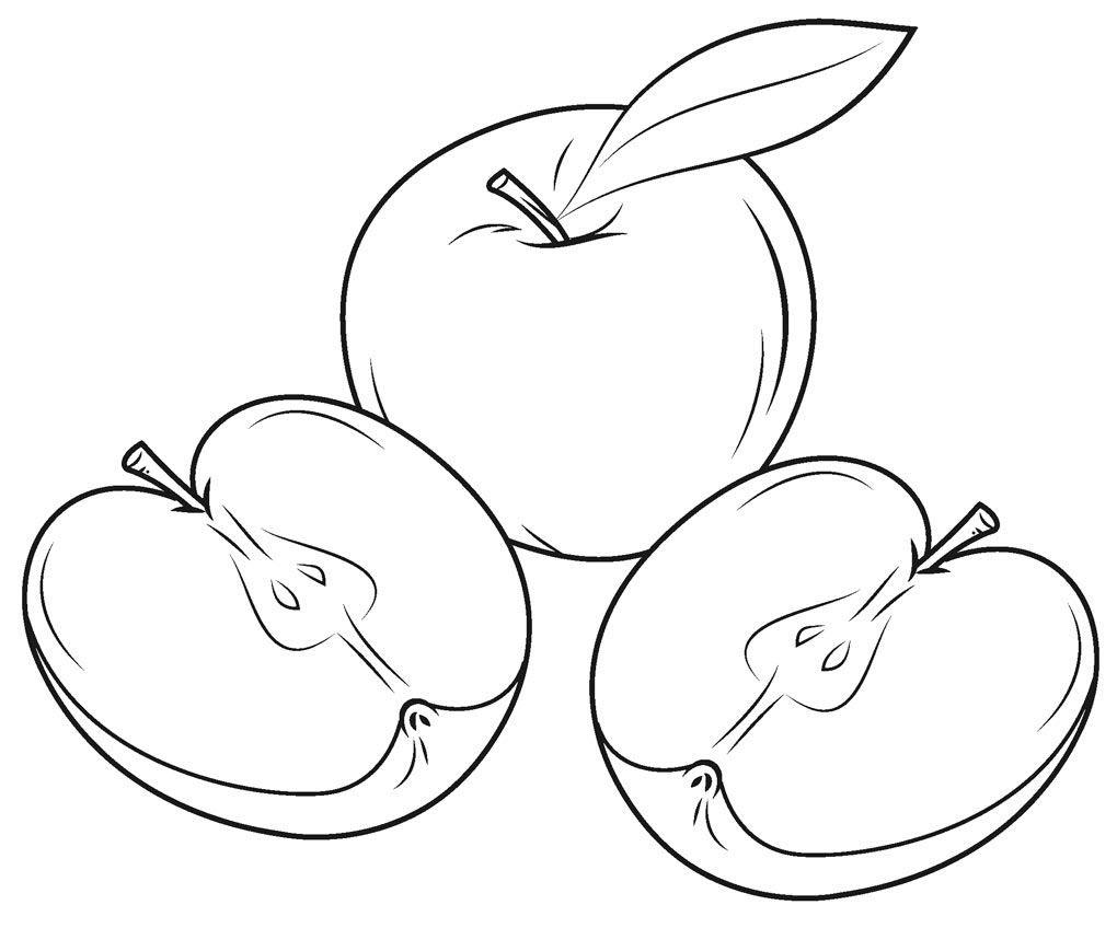 Tranh tô màu quả táo vàng