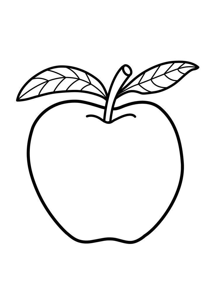 Tranh tô màu quả táo xanh