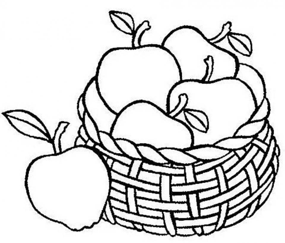 Tranh tô màu rỏ quả táo