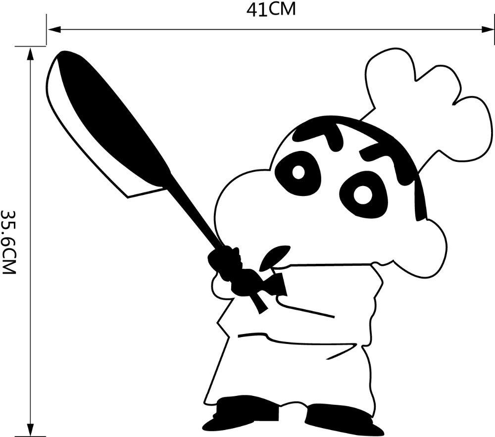 Tranh tô màu Shin cậu bé bút chì làm đầu bếp