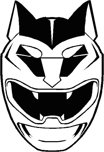 Tranh tô màu siêu nhân Gao siêu nhân Bạc chỉ có khuôn mặt