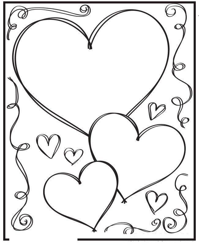 Tranh tô màu tấm thiệp hình trái tim
