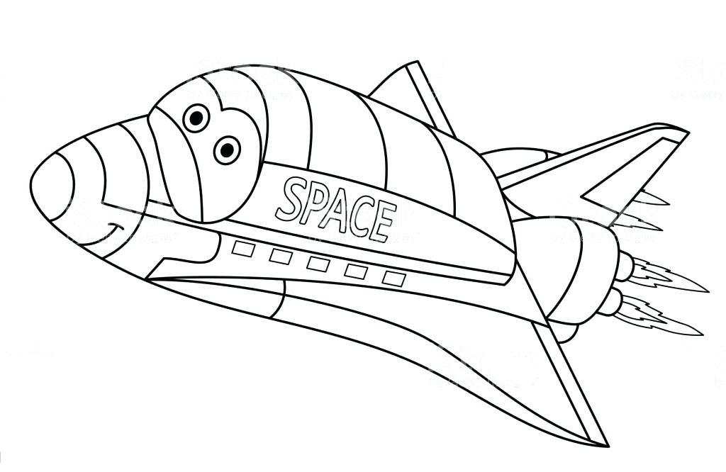 Tranh tô màu tàu con thoi hoạt hình
