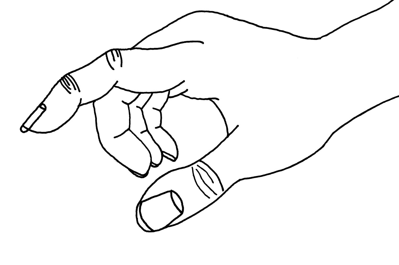 Tranh tô màu tay phải