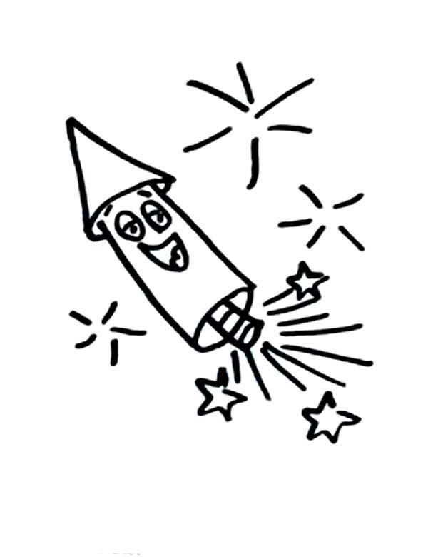 Tranh tô màu tên lửa cười