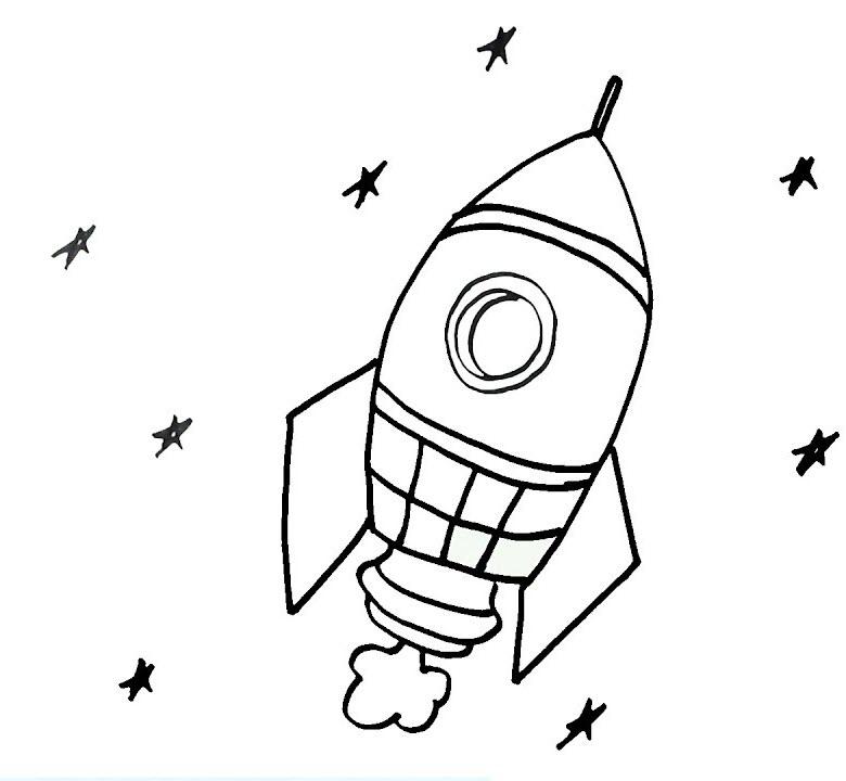Tranh tô màu tên lửa không gian