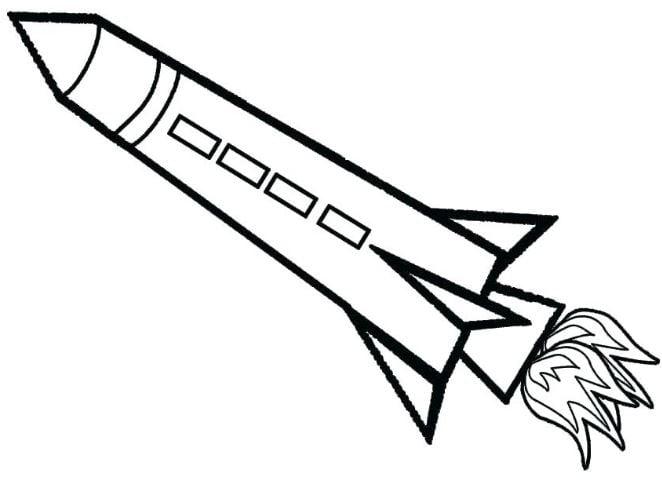 Tranh tô màu tên lửa phóng