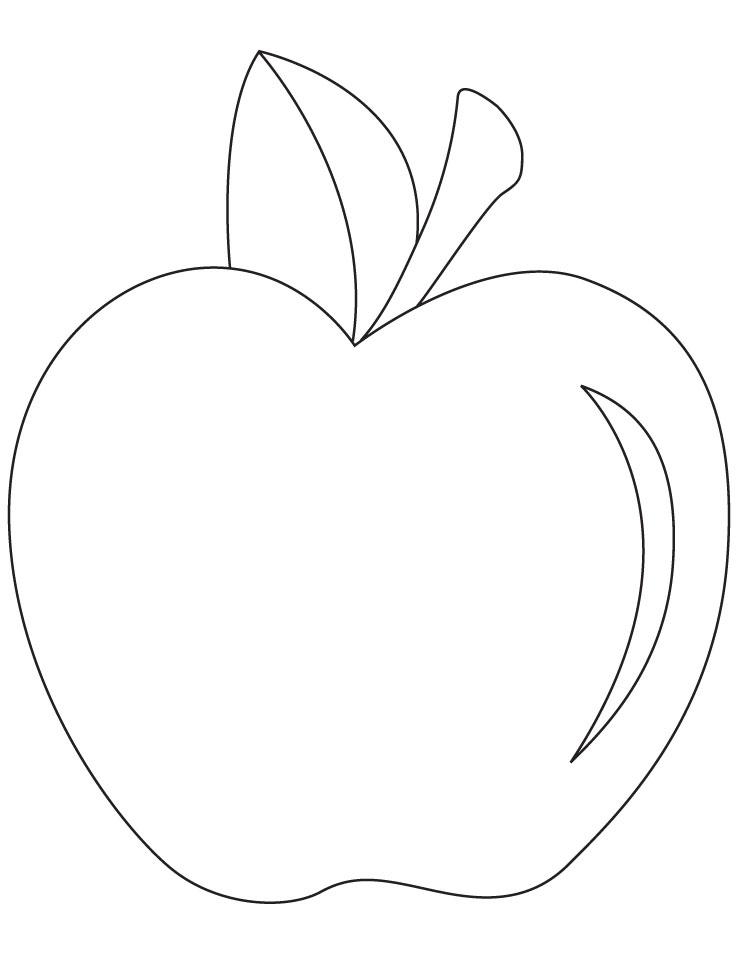 Tranh tô màu trái táo đẹp