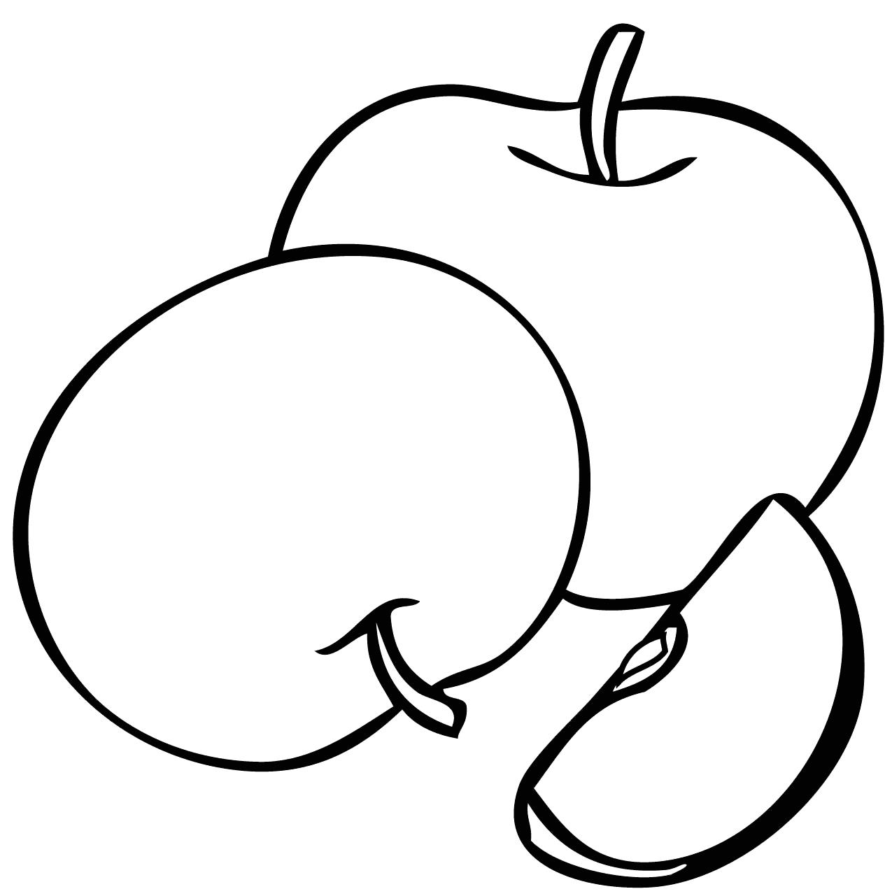 Tranh tô màu trái táo