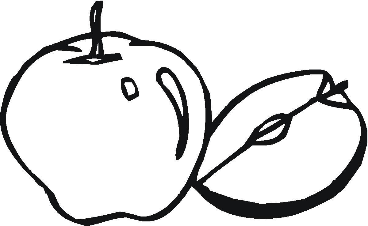 Tranh tô màu về quả táo