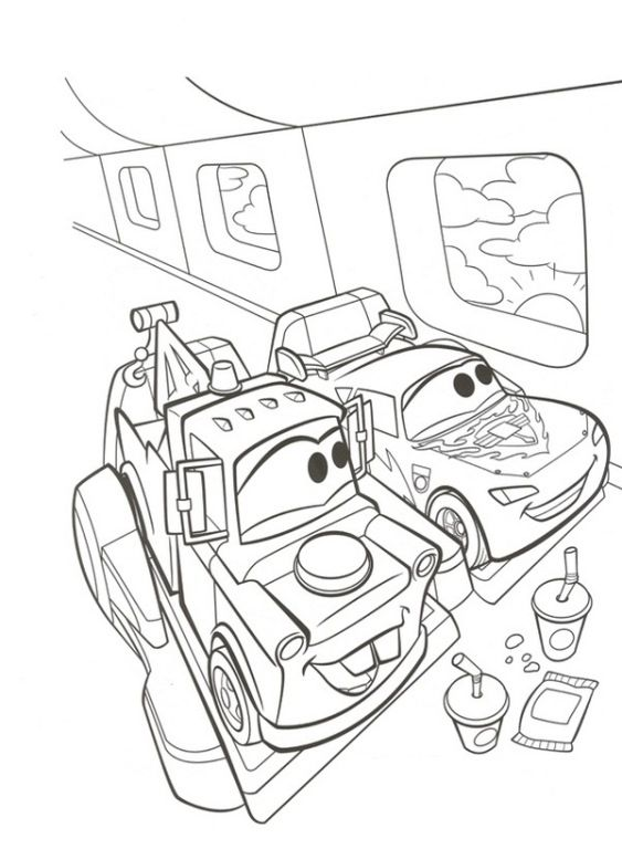 Tranh tô màu xe ô tô cho bé cực đẹp