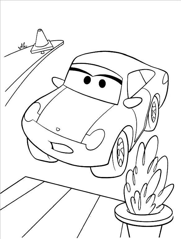 Tranh tô màu xe ô tô đẹp nhất