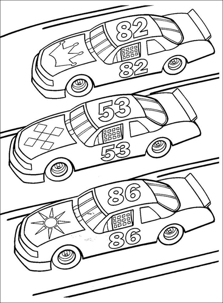 Tranh tô màu xe ô tô đơn giản cho bé