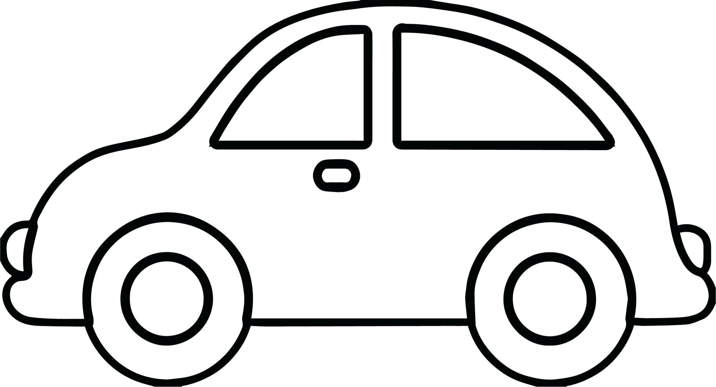 Tranh tô màu xe ô tô đơn giản nhất