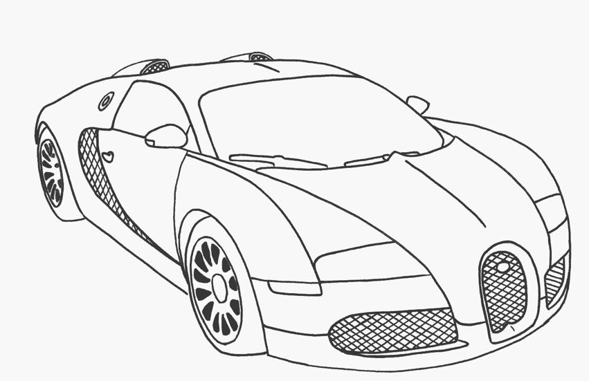 Tranh tô màu xe ô tô đơn giản