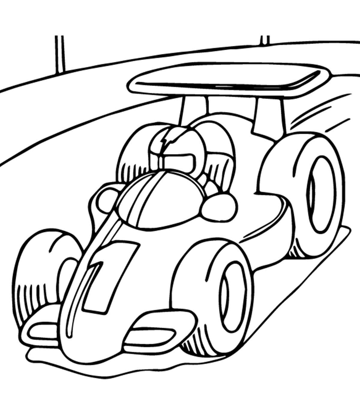 Tranh tô màu xe oto cho trẻ