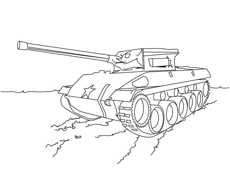Tranh tô màu xe tăng quân đội đẹp nhất
