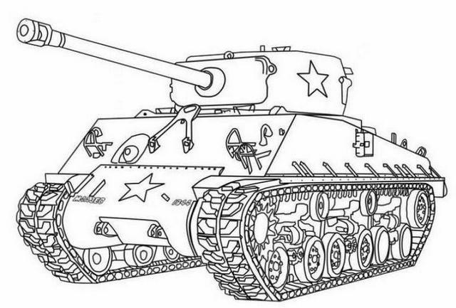 Tranh tô màu xe tăng quân đội Việt Nam