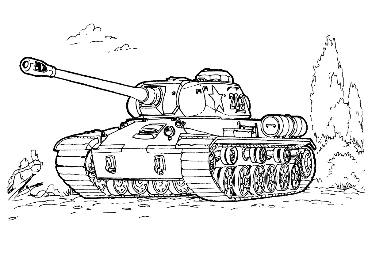 Tranh tô màu xe tăng Việt Nam