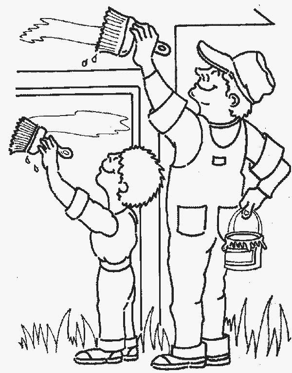 Tranh vẽ tô màu bác nông dân đơn giản
