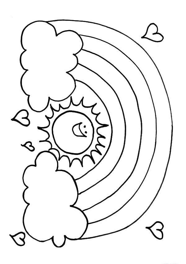 Tranh vẽ tô màu cầu vồng cực đẹp cho bé