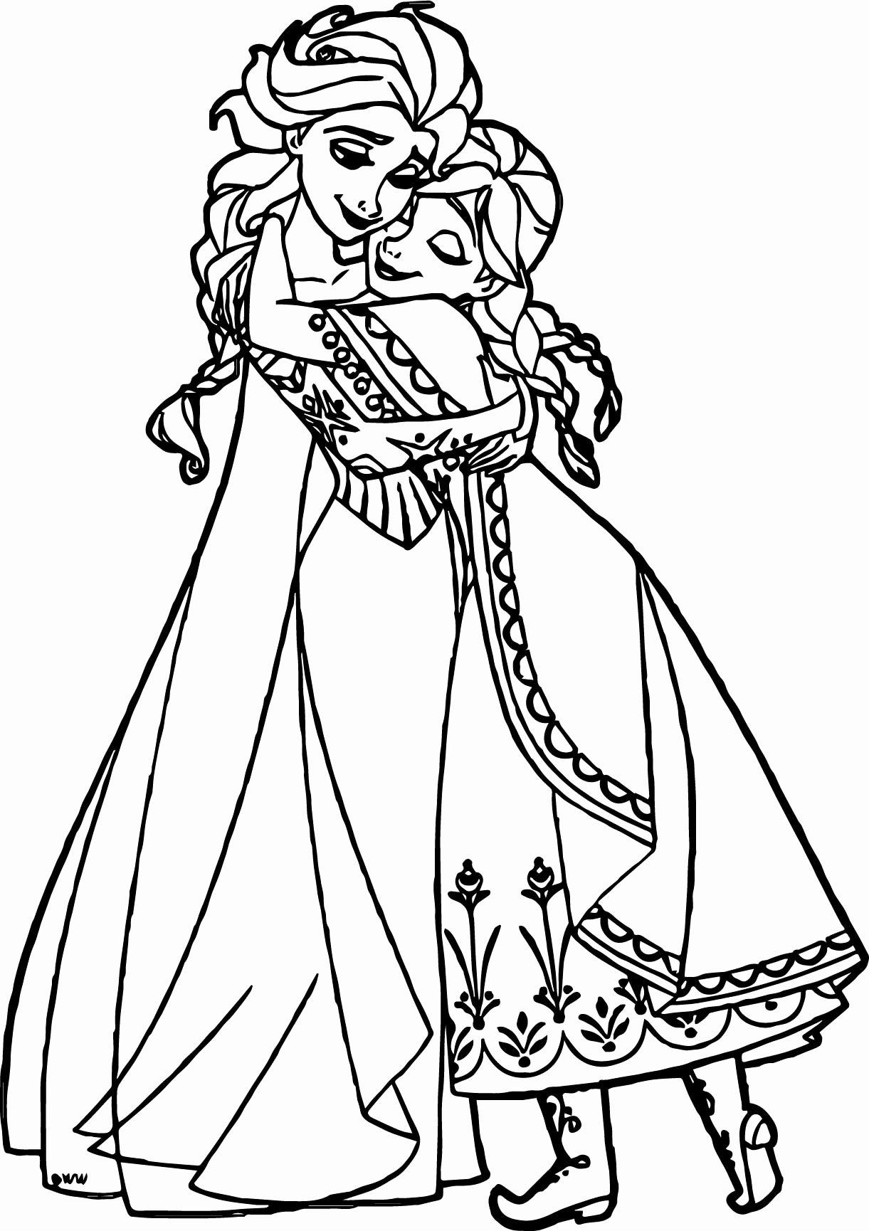 Tranh vẽ tô màu công chúa Elsa đáng yêu