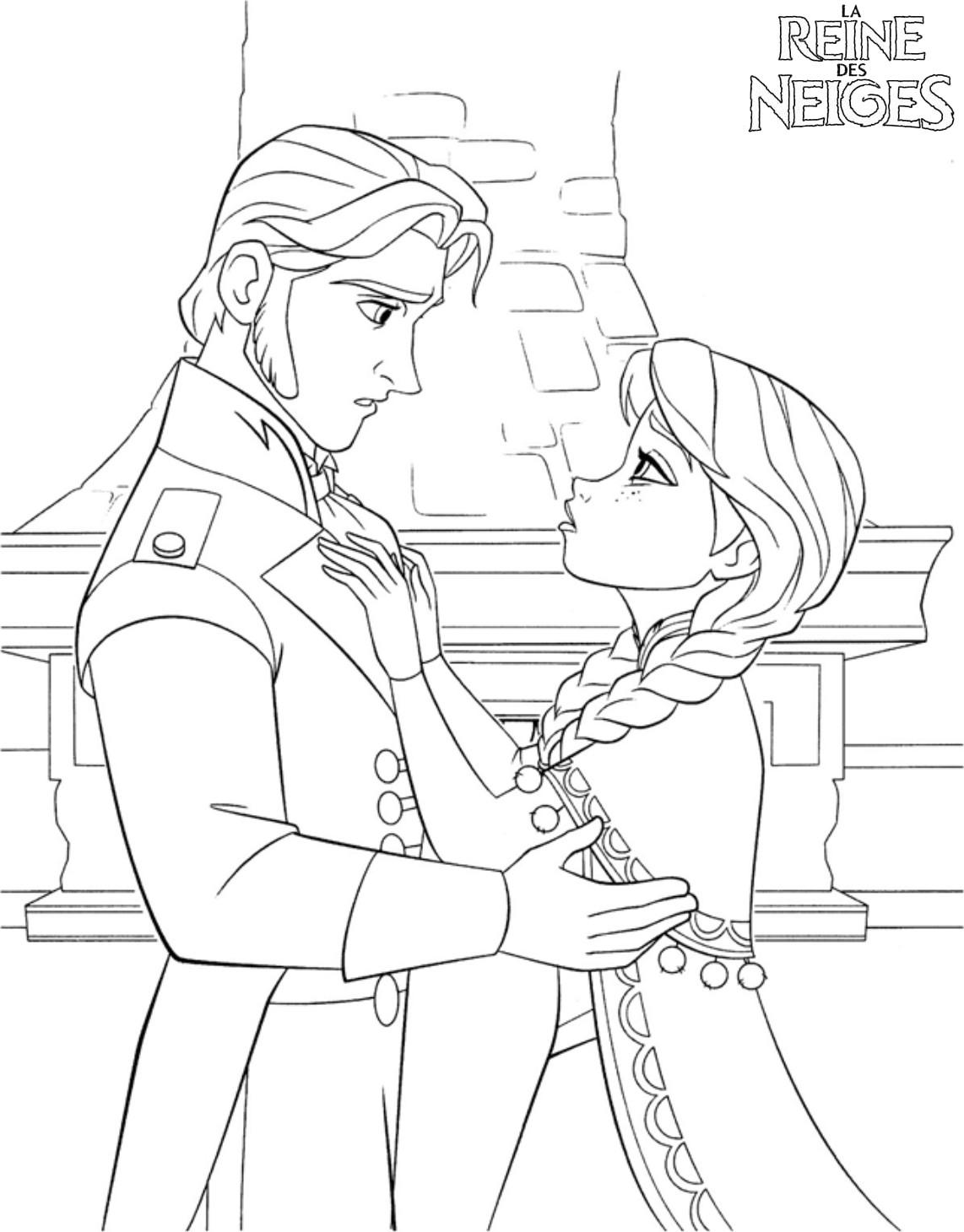 Tranh vẽ tô màu công chúa Elsa đơn giản cực đẹp