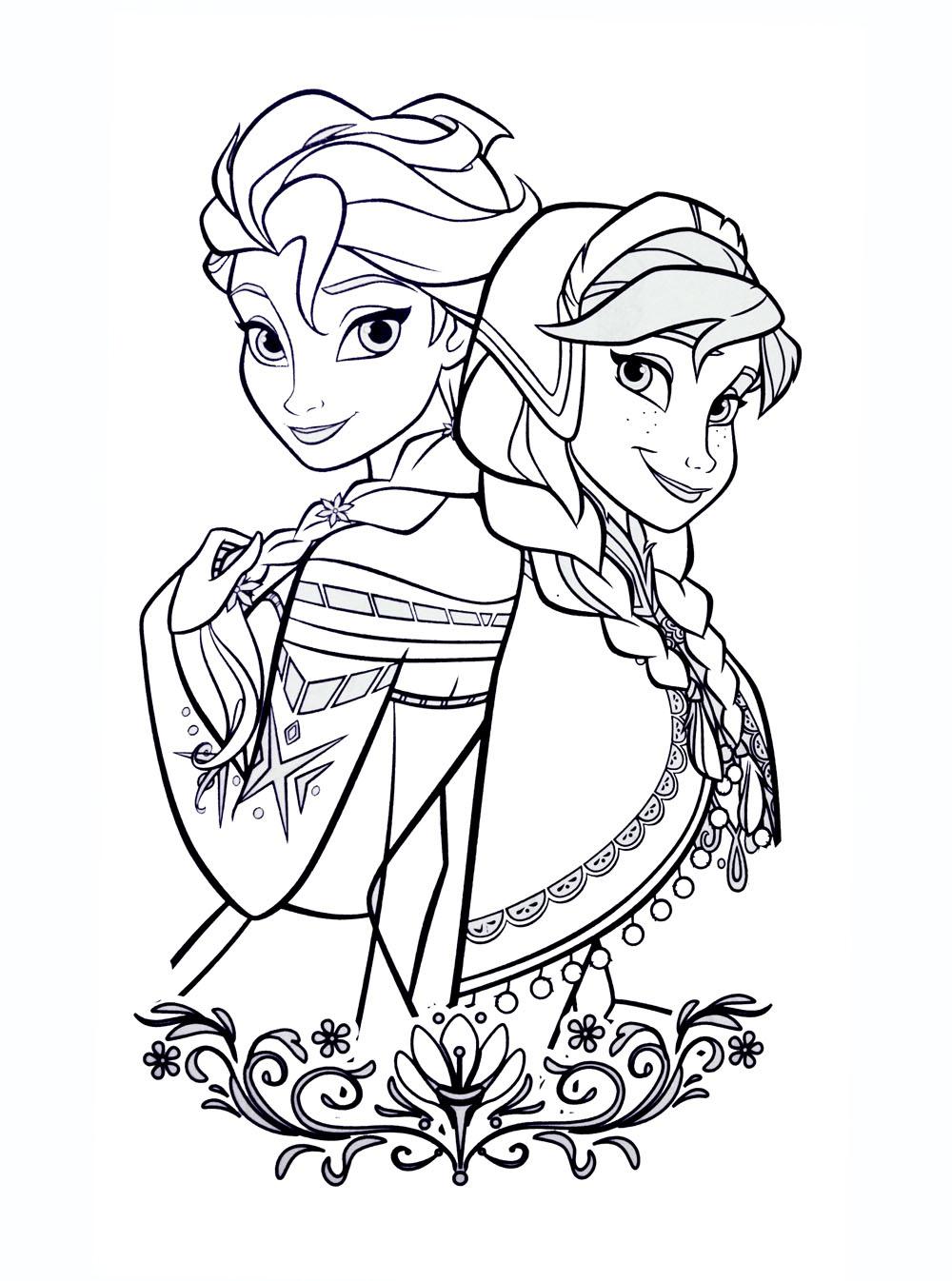Tranh vẽ tô màu công chúa Elsa