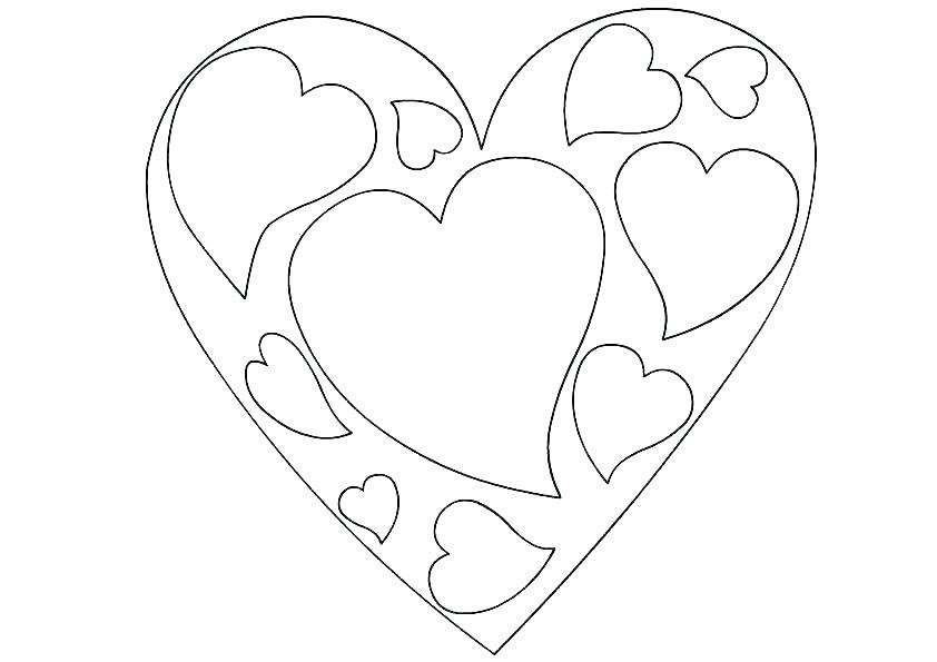 Valentines day hearts Coloring